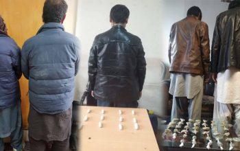 بازداشت 5 فروشنده مواد مخدر از شهر کابل