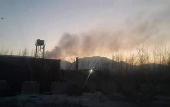 آتش سوزی در دارالامان کابل