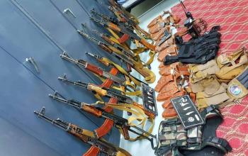 جمع آوری سلاح های بدون جواز در بلخ