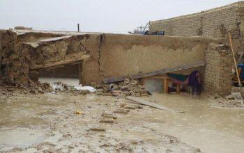 ریزش برف، باران و سیلاب شدید در بخشهایی از افغانستان