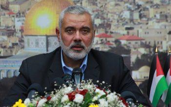 حمله اسرائیل بر دفتر رئیس سیاسی جنبش حماس در غزه