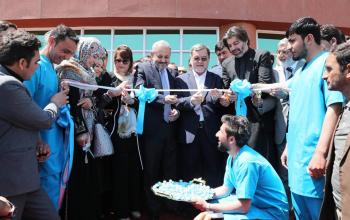 افتتاح شفاخانه محمد علی جناح در غرب کابل