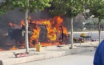 دو پولیس در انفجار کابل زخمی شد