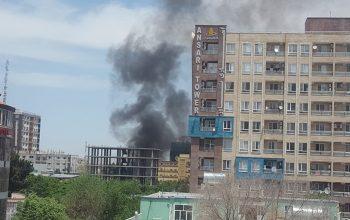 صدای شلیک گلوله از محل انفجار کابل