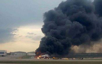 ۴۱ کشته در فرود اضطراری هواپیما در روسیه