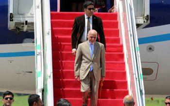 رئیس جمهور به انگلستان رفت