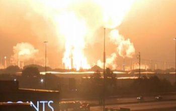 آتش سوزی گسترده در شرق امریکا