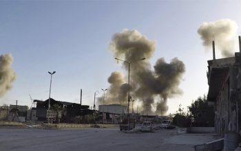 حمله موشکی به میدان هوایی نظامی T-4 سوریه
