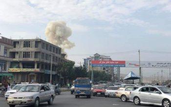 درگیری مهاجمین با نیروهای امنیتی در محل انفجار در شهر کابل