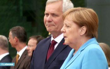 صدراعظم آلمان برای سومین بار لرزید