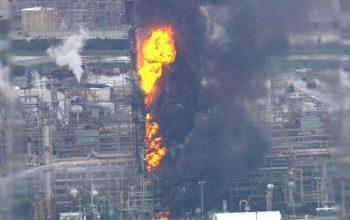 66 تن در آتش سوزی یک شرکت نفتی در تگزاس امریکا زخمی شد