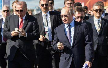 اردوغان در روسیه آیسکریم خورد