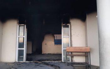 یک مکتب دخترانه در کابل در آتش سوخت