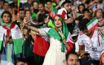 زنان ایرانی، در استدیوم حضور می یابند