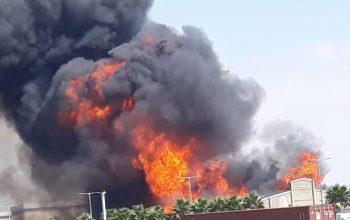 انفجار و آتش سوزی در بزرگترین مرکز نفت عربستان