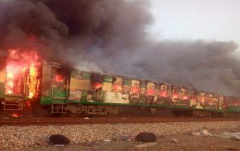 65 کشته در آتش سوزی قطار در پاکستان