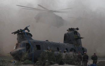 سقوط هلیکوپتر نظامی امریکا در لوگر