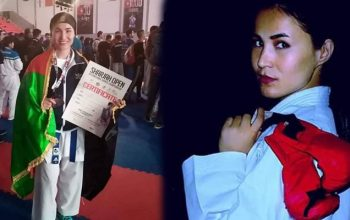 مدال برنز کاراته «امارات» بر گردن لطیفه حیدری