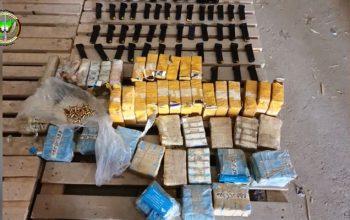 کشف سلاح و مواد مخدر در کابل و لوگر