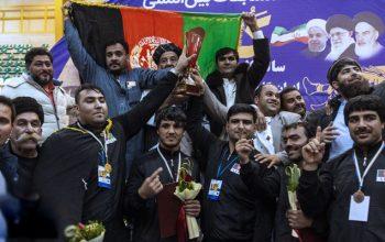 افغانستان قهرمان مسابقات بین المللی کورش «سردار سلیمانی»