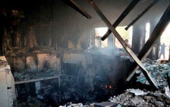 در حمله راکتی بر سفارت امریکا در بغداد، پنج تن زخمی شد