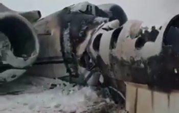 هواپیمای سقوط کرده در غزنی، خارجی است