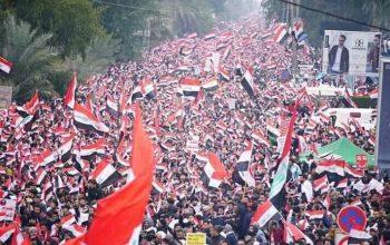 تظاهرات میلیونی مردم عراق بر علیه امریکا