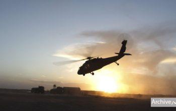 اظهارات ضد و نقیض از سقوط یک هلیکوپتر اردو در نیمروز