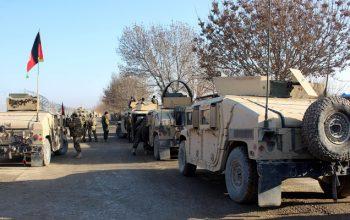 کمین و انفجار ماین بر کاروان نیروهای امنیتی در قندهار