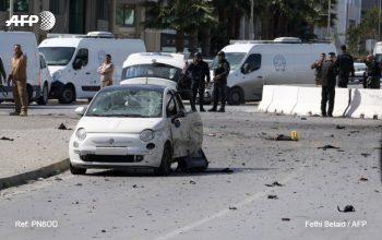 حمله انتحاری در نزدیکی سفارت امریکا در تونس