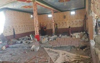 مسجد شیعیان در پاکستان به علت انفجار تخریب شد