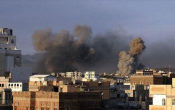 حمله راکتی ائتلاف عرب بر «مارب» یمن