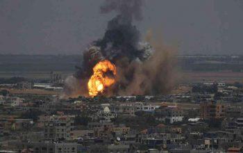 مواضع مقاومت در نوار غزه هدف قرار گرفت