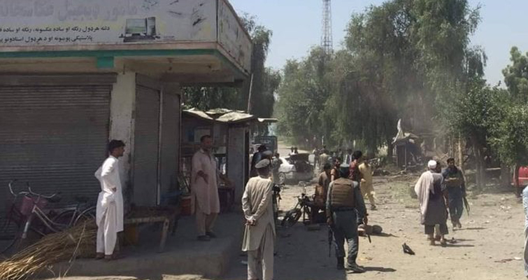 حمله کننده انتحاری با موتربم، یک فرمانده پولیس محلی را در ولسوالی کوزکنر هدف قرار داد