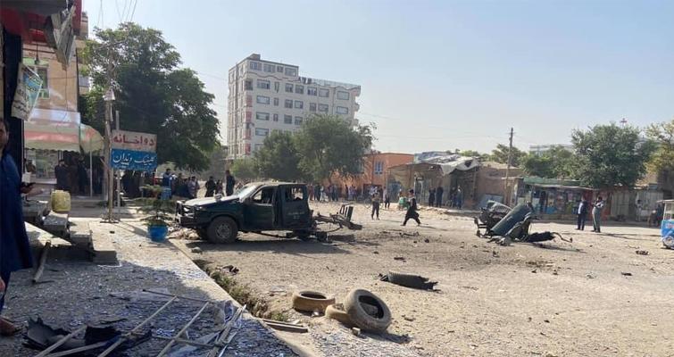 رنجر پولیس در کابل هدف انفجار قرار گرفت