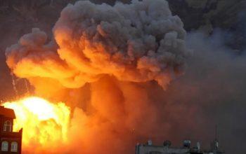 پایتخت یمن از سوی عربستان بمباران شد
