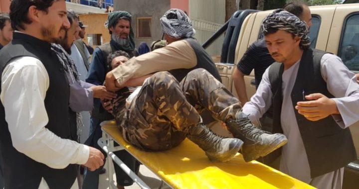 حمله گروهی طالبان بر ریاست امنیت سمنگان