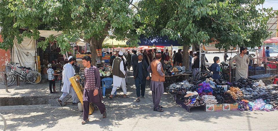 اصابت راکت به نزدیکی مراسم رئیس جمهور در غزنی